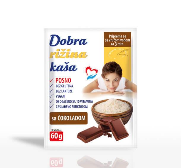 Dobra rižina kaša Čokolada 60g